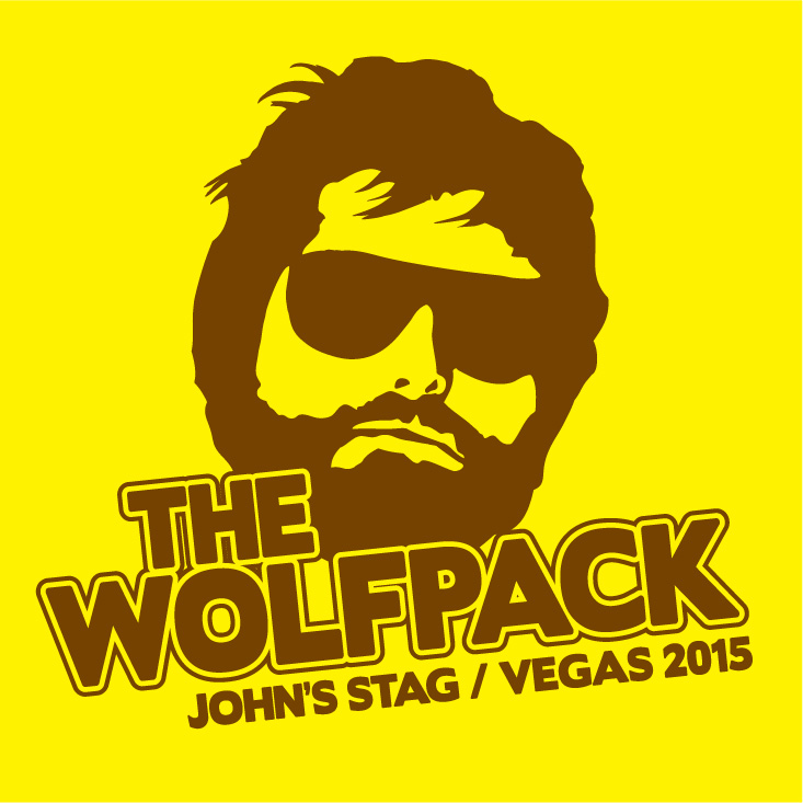 Hangover The Wolfpack Stag T-Shirts